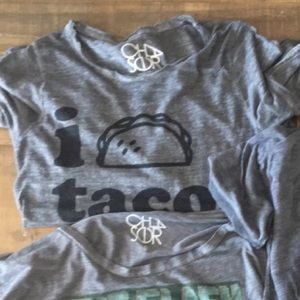 Chaser brand taco tee